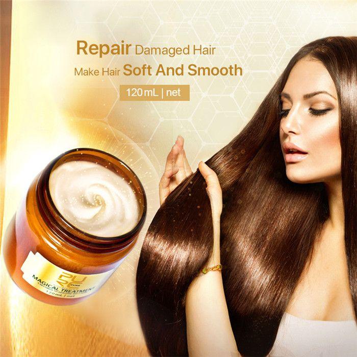 Purc Magical Keratin Маска для лечения волос 120 мл 5 секунд Ремонт наносит повреждение волос корня волос для волос Tonic Keratin лечение кожи головы 6 шт.