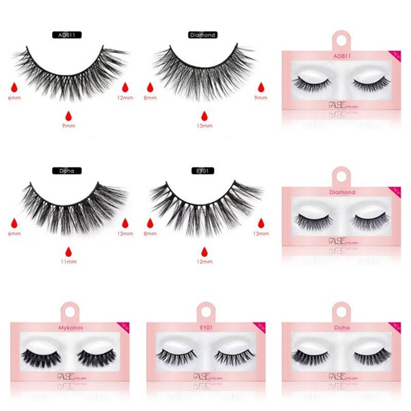 New Hot Fashion False Eyelashes Natural Faux 3d Mink Eyelashes Fake 3D Mink Lashes Soft Eyelash Extension Makeup