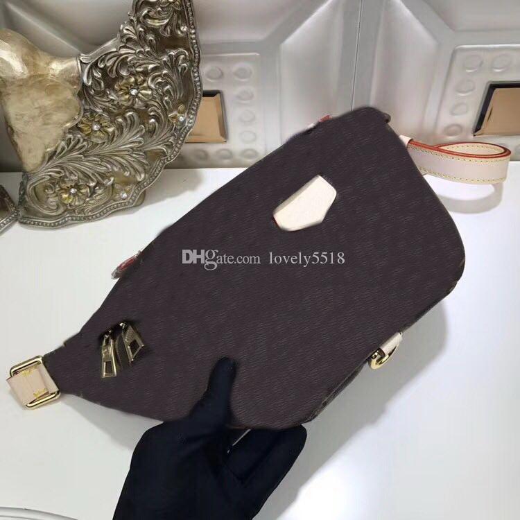 Pour les femmes brunes hommes poitrine véritable sac à main en cuir taille Avenue célèbre Totes Sacs sacs à poussière Livraison gratuite Portefeuilles # 242