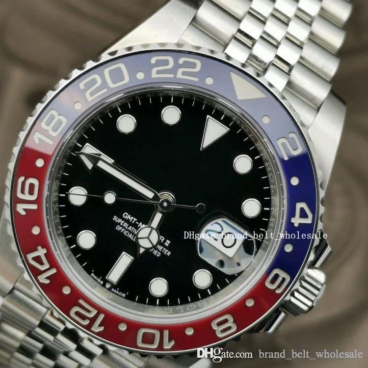 рекомендует роскошные 2020 40 мм II синий красный керамические 126710 автоматические часы мужские черные часы коробка / сертификат