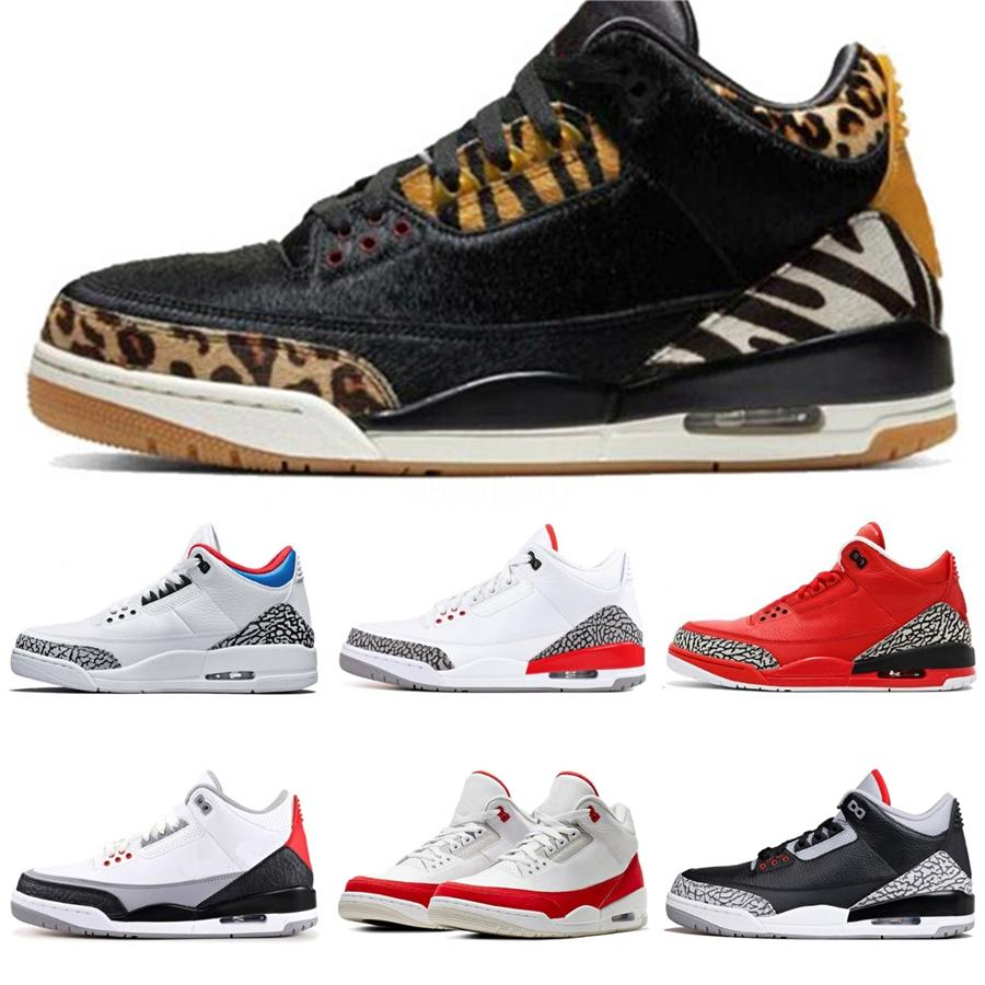 2020 Metallic Lila Black Cat 3 3S Herren-Basketball-Schuhe White Cement Cactus Jack Fire Red Designer-Turnschuhe Iv reiner Geld Trainer Männer # 795