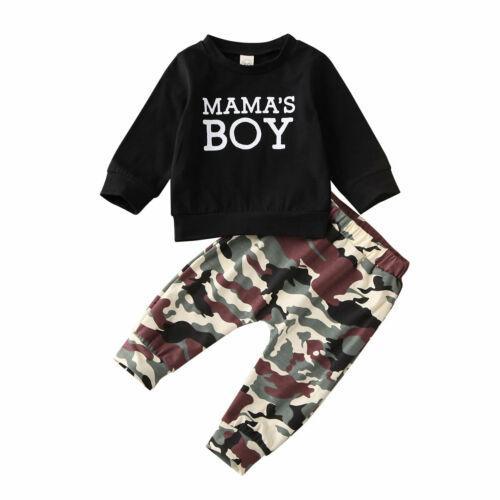 2020 Autunno Nuovo 2 pezzi del bambino infante neonato Mama Abbigliamento T-Shirt Top Camo Pants Pantaloni Outfits Primavera Camouflage Set