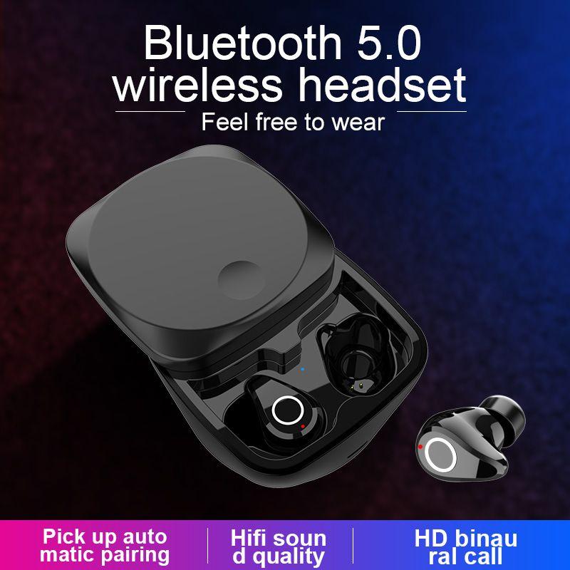Q5 TWS Mini Bluetooth 5.0 Binaural fone de Ouvido Estéreo 6D Verdadeiro Gaming Sem Fio Fones de Ouvido Fone de Ouvido de Redução de Ruído Caixa de Carregamento de Fone de ouvido com Microfone