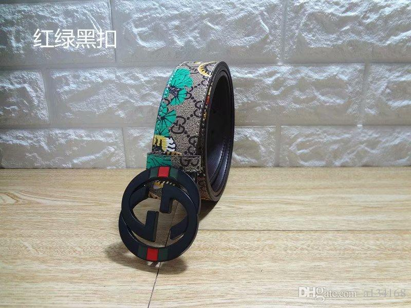 new 2019 HOT sell Italy Designer Belts High Quality FeRa Smooth Big Buckle Leather Belt Buckle Belts for Men Women belts gift