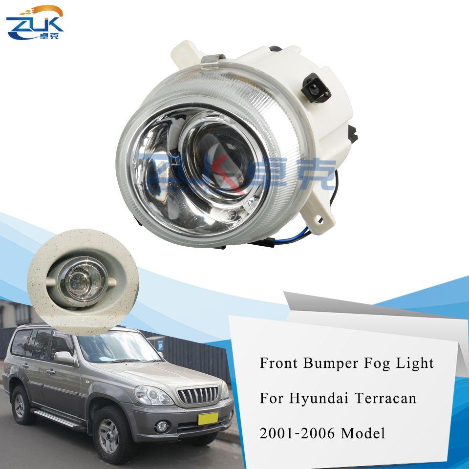 ZUK Ön Tampon Sis Işık Sürüş Sis Lambası İçin Hyundai İçin Terracan 2.5L 3.5L 2001-2006 OEM: 92201-H1050 92.202-H1050