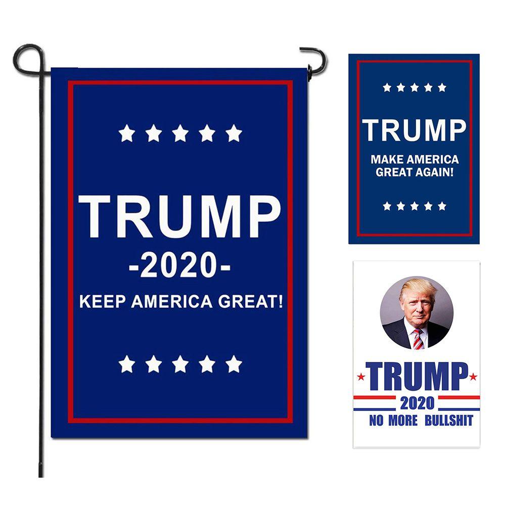 ترامب جاردن أعلام الرئيس الانتخابات العامة راية 2020 رابحة العلم البوليستر القماش البلاستيك سارية العلم راية الأعلام راية 30 * 45 سنتيمتر MMA1715