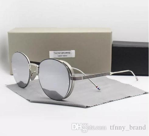 YENI Moda Thom marka güneş gözlüğü TB106 UVA / UVB protectiondecoration erkekler ve kadınlar için tb 106 Moda ile Orijinal kılıf óculos