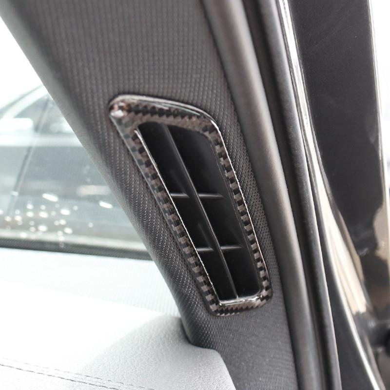 Car Styling A Pillar Air Vents Decorative Frame Cover Trim Carbon Fiber For Audi A6 C8 A7 2019 Interior Accessories