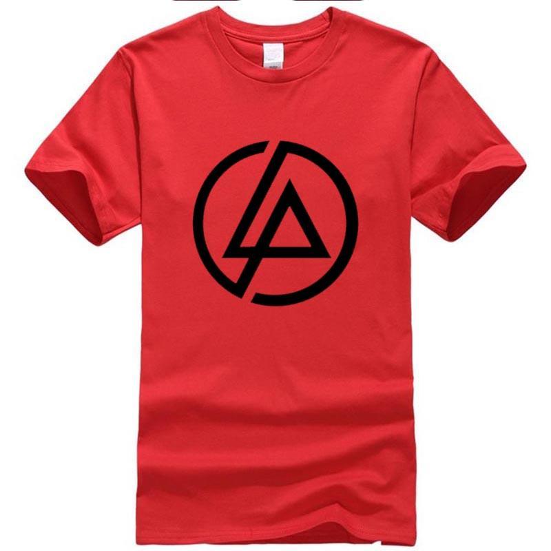 2020 haoqifetniu Mode-Qualitäts-Drucken-T-Shirts Linkin Park-T-Shirt aus 100% Baumwolle Kurzarm T-Rundhalsausschnitt XS-XXL # 3453A