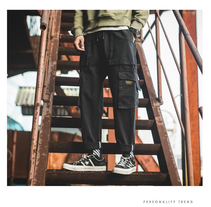 Tasca dei pantaloni del progettista primavera-estate diritta Cargo Pant Maschi allentato casual Street Style Abbigliamento Uomo Vintage Mult