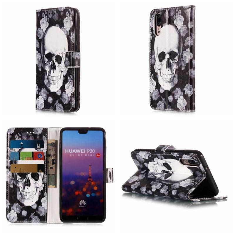 For Redmi 4X Note 5 Pro 5A Nokia 1 7 Plus 6 2018 Leather Wallet Case Skull Flower Marble Leopard Flip Cover Butterfly Cartoon Unicorn Coque