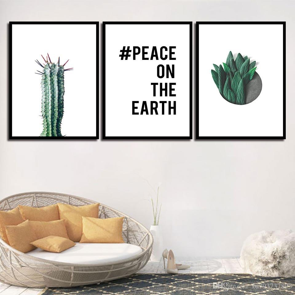 2019 Nordic Posters Nursery HD Prints For Baby Room Green Cactus Plant Wall Artwork Canvas Painting Picture Kids Bedroom Decoration From Xu