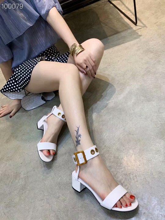 Novo 2019 sapatos de couro genuíno Sexy Women Summer Fashion grife ankle boots marca quadrados saltos sandálias zapatillas mujer tamanho 35-40