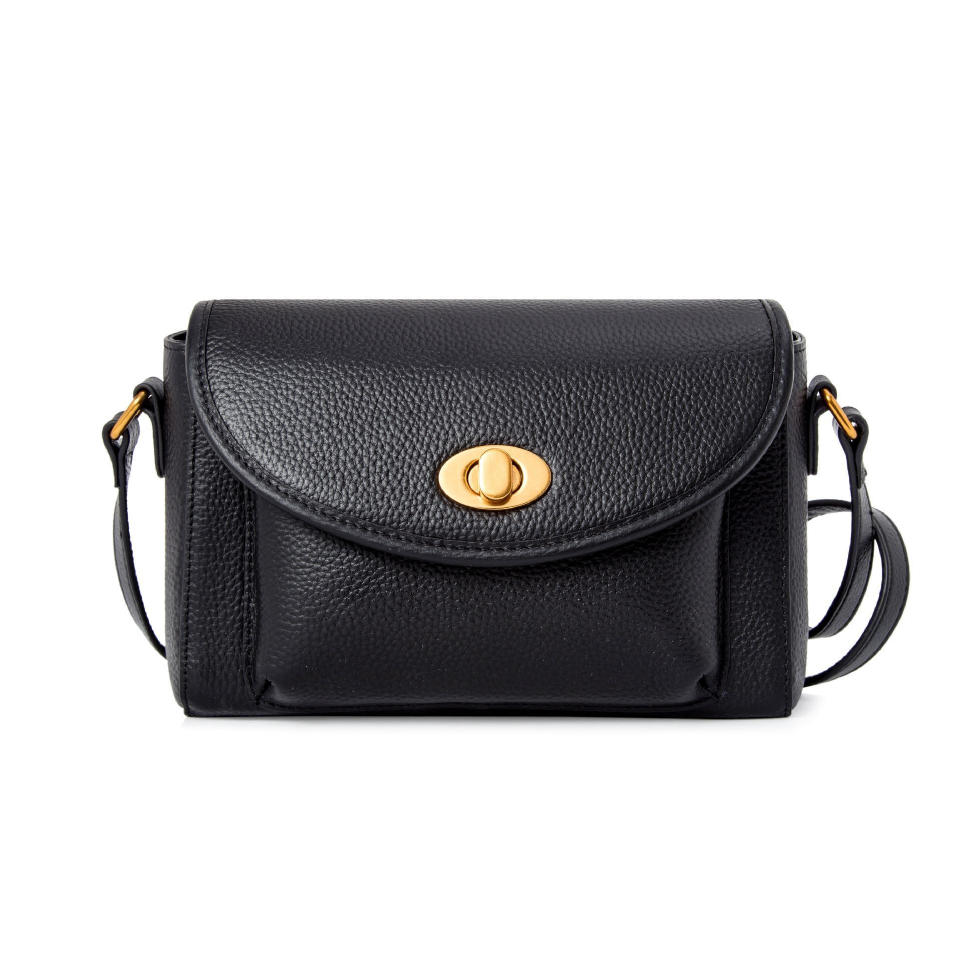 Belle2019 Messenger Genuine Woman Ma'am Single Shoulder Small Square Package More Function A Leather Bag