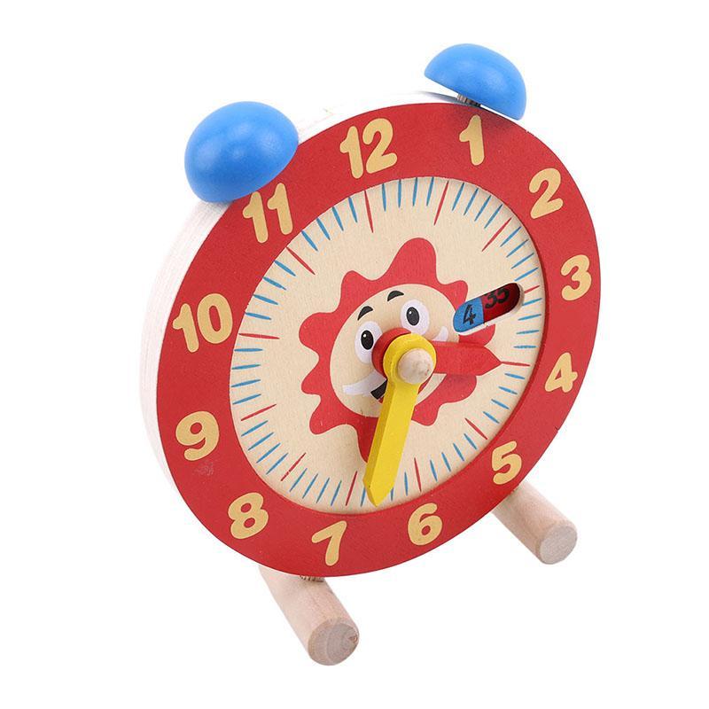 나무 몬테소리 수동 알람 시계 장난감에 대한 아기 교육 목재 뺄셈 공식 웃긴 재미있는 가젯 재미있는 장난감