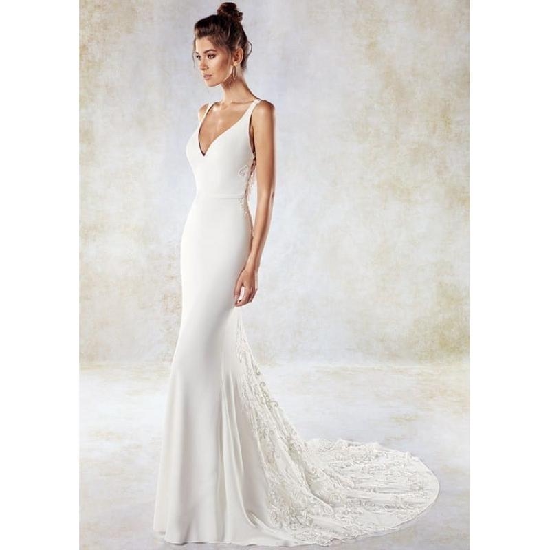 DREAM BRIDALS Sexy Illusion Back V-Neck Lace Mermaid Wedding Dress Sleevesless Zipper Button Vestido De Novia Robe De Mariee Bridal Dresses
