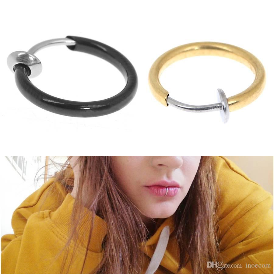 2020 Fake Nose Ring Punk Nostril Ear Septum Nose Clip On Fake Piercing Nose Lip Hoop Rings Earrings Silver Gold Body Jewelry From Inoecom 10 68 Dhgate Com