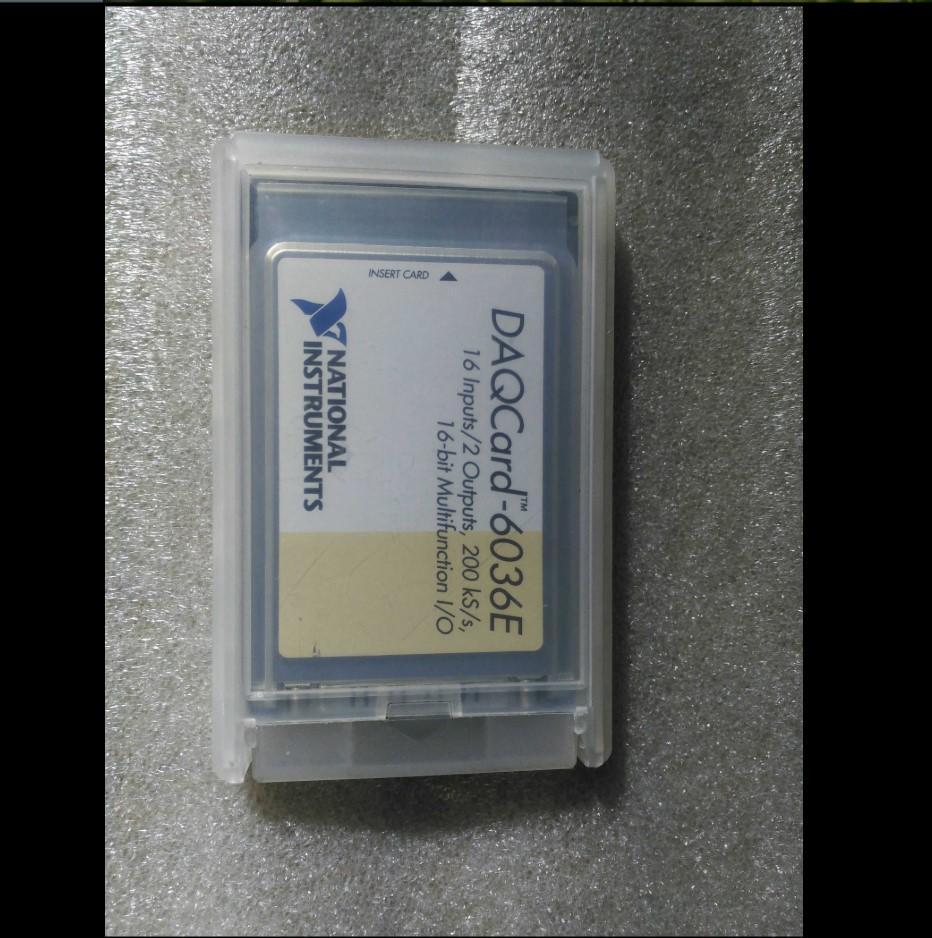 NI DAQCARD-6036E PCMCIA için çalışmak Mükemmel Test% 100