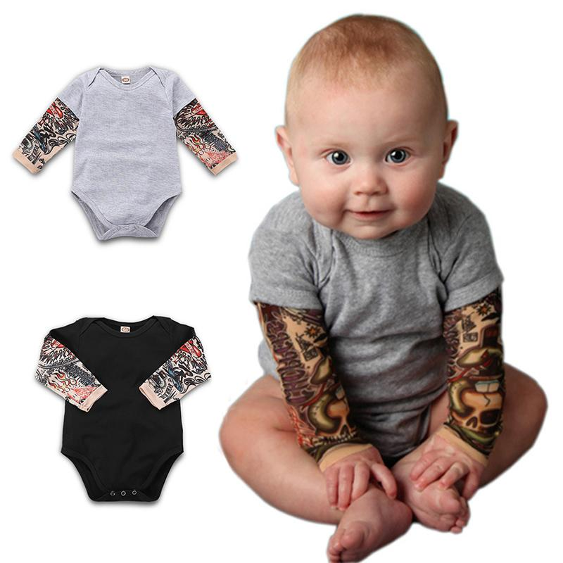 New Sweet Baby Grows Playsuit Romper Long Sleeve Solid Color Summer Jumpsuit UK