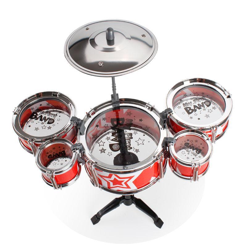 'S bambini I bambini Jazz Drum Set Jazz Drums educativo dello strumento Giocattoli principianti Practice Set
