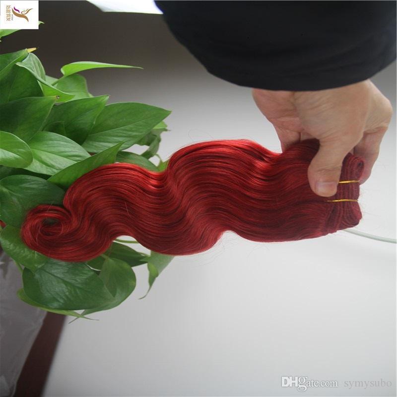 Virgin del brasiliano di estensione dei capelli dell'onda 100% di tessitura dei capelli umani onda Bundles 8-30 pollici doppia trama dei capelli