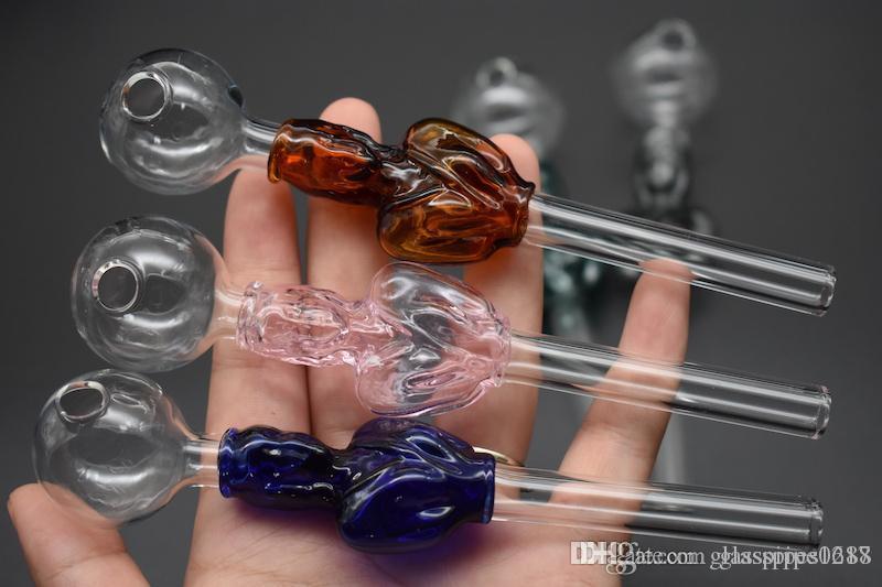 dengeleyici ucuz renkli Pyrex cam Yağ Brülör Boru cam tüp pipolar tütün ot cam petrol boru