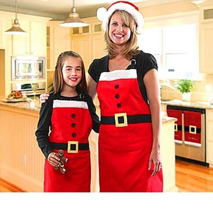 الكبار حجم مئزر الطبخ المطبخ أدوات الطبخ Set Hot Selling Sweetpress retro apron إبداعي مئزر عيد الميلاد للنساء
