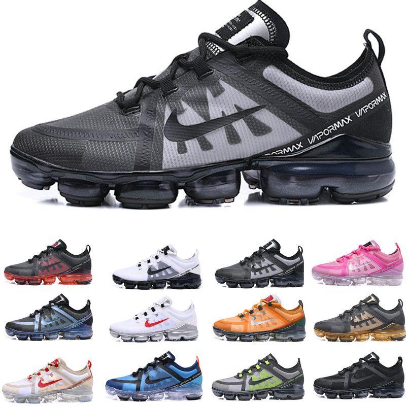 Vapormax  max max 2019 hommes Run Utility Black Anthracite chaussures de course pour hommes triple Burgundy Crush baskets de designer baskets de sport Medium Olive