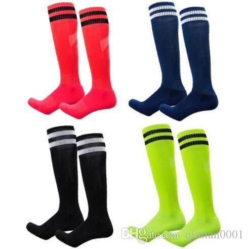 New Socks Training Football Socks Adult Children Men And Women Long Tube Sock Towel Bottom Two Bars Sports Socks