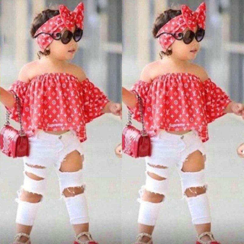 Kleinkind-Baby-Set Kleidung Kindermode Top Hose Zweiteilige Kind-Sommer-Anzug Mädchen Boutique Outfits