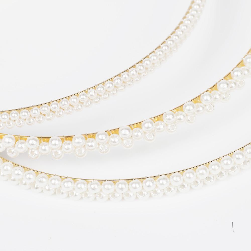 Imitation Pearl Hair Band Girls Hair Accessories Women Headband Wedding Party Bridal Hair Hoop,Style 1
