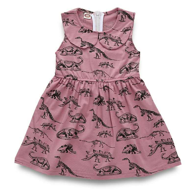 1-4 Years Baby Girls Dress,Toddler Infant Cartoon Dinosaur Print Dresses Clothing Outfits 3T, Pink