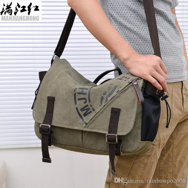 sales brand men handbag high quality wear-resistant canva shoulder bag outdoor leisure belts decorated men Messenger bag fashion printed