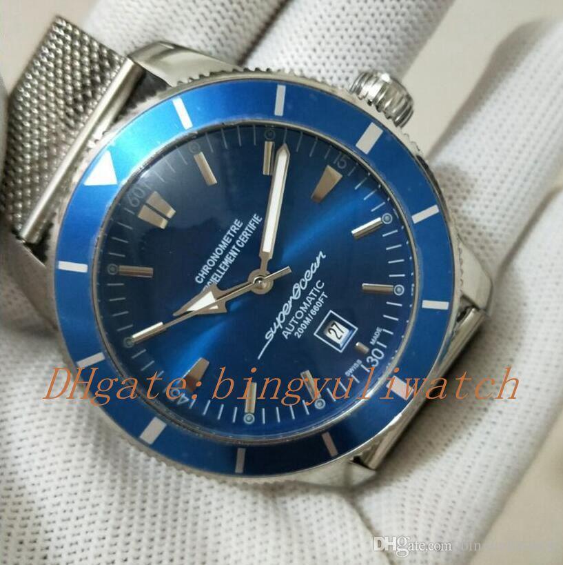 Fabbrica di vendita eccellente patrimonio 46MM oceano super lusso cultura oceanica A1732016-C734-102X-A20D.1 uomini guardare quadrante blu movimento automatico