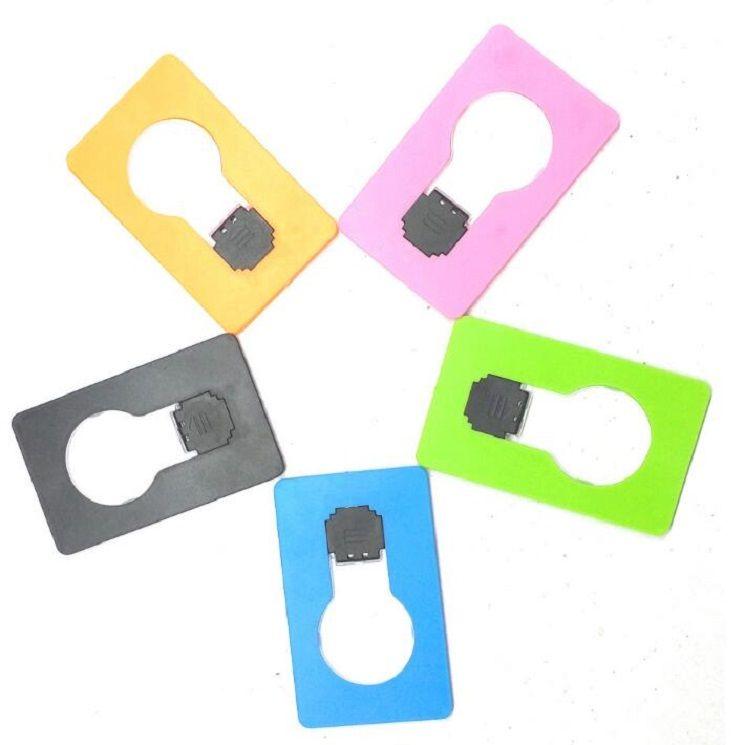 SXI MINI MINI LED Carte de crédit Portable Lampe de poche Portable Lampe Porte-monnaie Christmas Porte-monnaie Portefeuille Carte de crédit Night Light