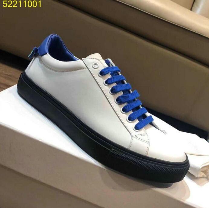 Tüm maç Erkek rahat beyaz yürüyüş ayakkabıları gerçek deri Kentsel Sokak dantel-up oxfords PARIS Düşük sneakers 38-45