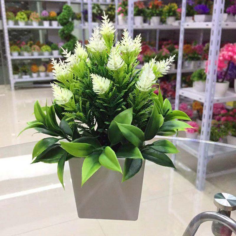 Falso Artificial Planta de vaso de flor Mini Pine Cone Sala Principal Decoração flores artificiais para a decoração da grama