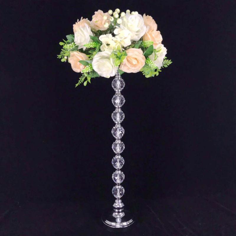Centre de table Centerpiece Grand Cristal Candlestick Candelabros de cristal Décoration de mariage Bougeoirs
