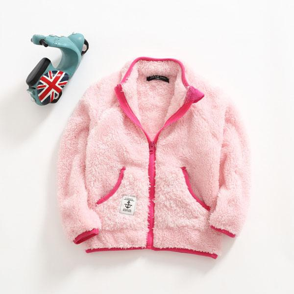 Autumn winter new artificial cotton wool coat thermal jacket for boys and girls