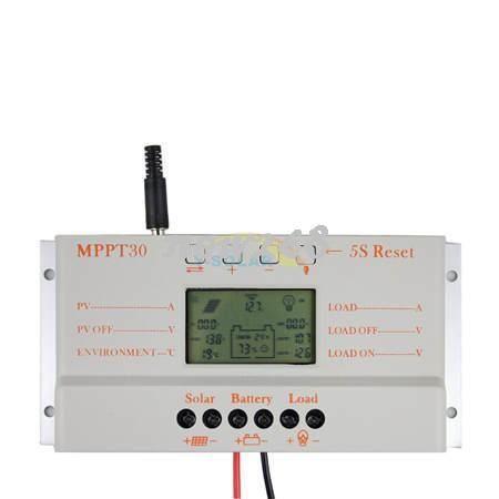 Freeshipping MPPT30 güneş kontrol 30A CE sertifikalı LCD ekran En Kaliteli pv sistemi için dayanıklı kolay kurulum Solar şarj regülatörü