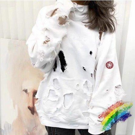 Trou Sweat à capuche Homme Femme 1 meilleure qualité 2020FW Pull Streetwear