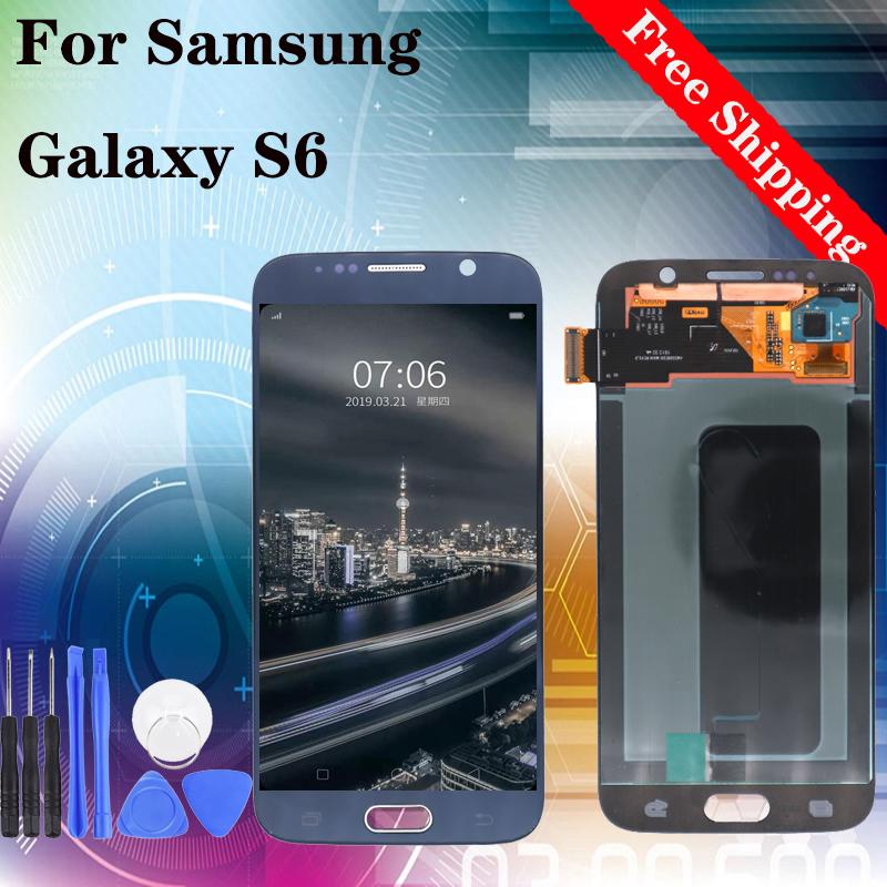 """5.1"""" Brand new For Samsung Galaxy S6 G920 Test New LCD Display Touch Screen Digitizer Assembly Parts Blue White Gold"""