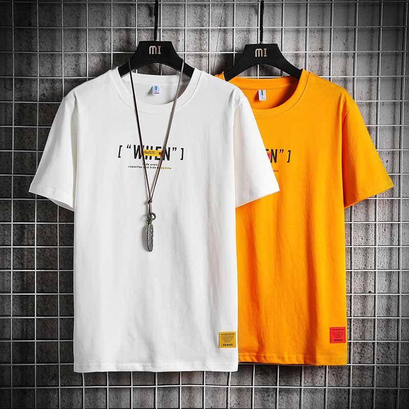 2020 Summer Letter Print Men's T-Shirt Cotton Blend Top Short Sleeve O-neck T-shirt for Designer T-Shirt Deluxe Hip Hop SIZE S-4XL