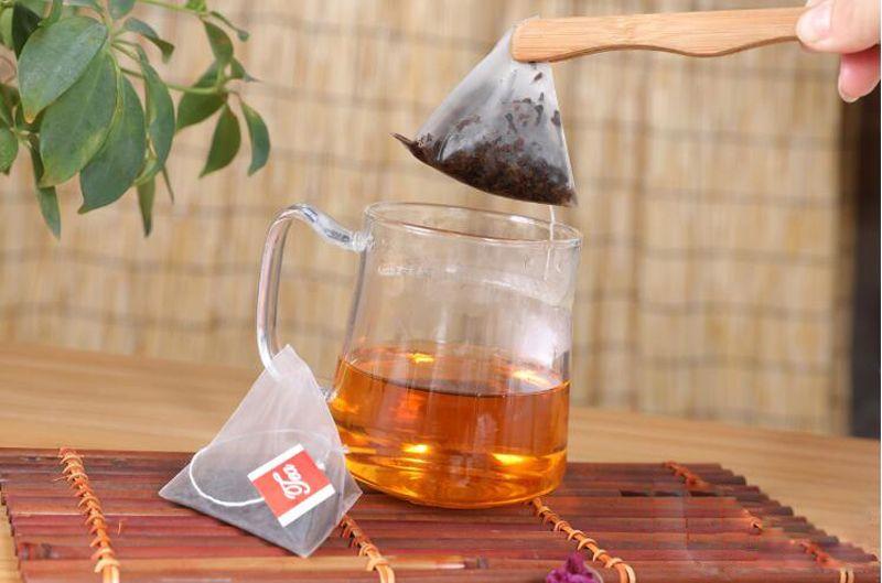 2000pcs/lot Nylon Empty Pyramid Tea Bag Tea Infuser New Strainer Teabags tea tools filter