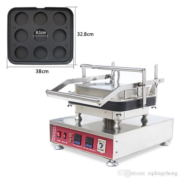 Kostenloser Versand Antihaft-110V-220V Elektrische 4pcs / Platte Kreis Eitörtchen Hersteller Maschine Pie Gerippte mit abnehmbarer Platte