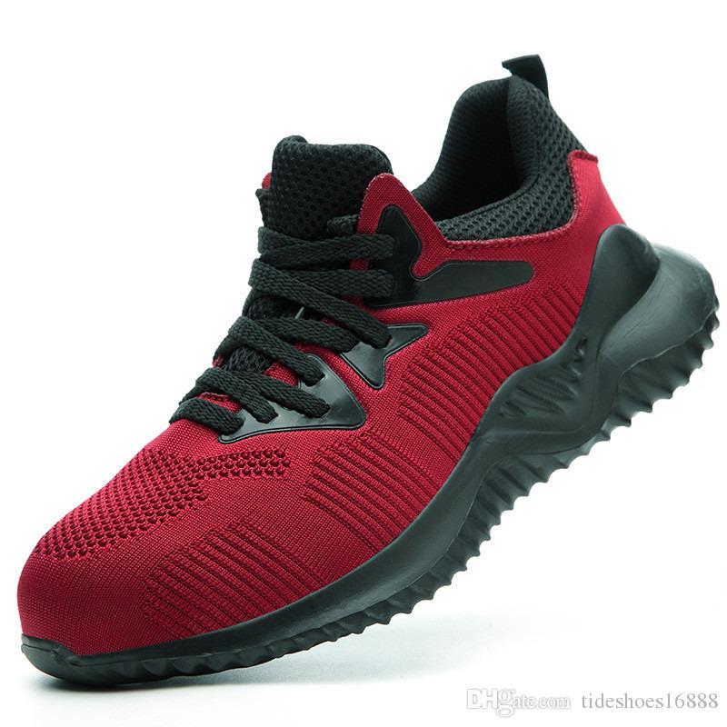 Ultraligeros Punta Acero Zapatos de seguridad Zapatos de Trabajo transpirable antideslizante resistente a los pinchazos de Seguridad Botas zapatillas de deporte Chaussure Homme