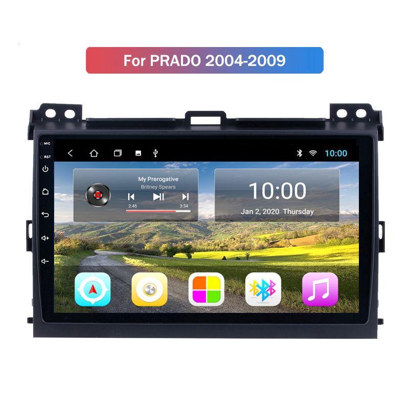 2G RAM For 2004-2009 Toyota PRADO 10.1 inch Android 10 GPS Navi Car with Touch Screen WiFi AM FM Radio Bluetooth USB DVR SWC