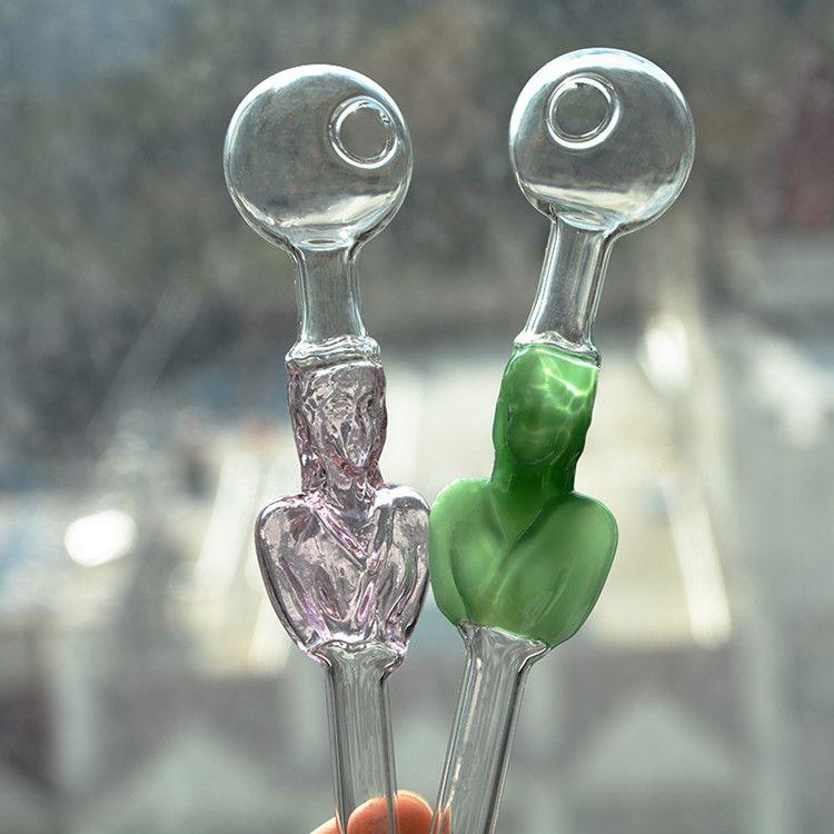 다채로운 두꺼운 유리 흡연 워터 파이프 Pyrex 유리 오일 버너 파이프 Dab 액세서리 담배 유리 흡연 파이프 액세서리 무료 배송