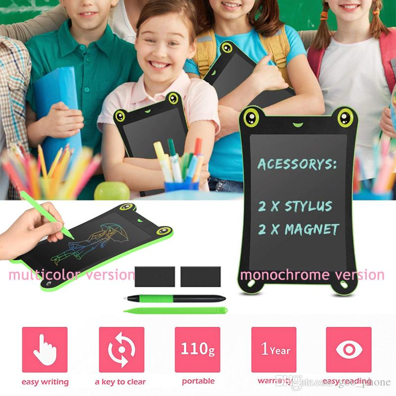 8.5 Inch Color Screen LCD Frog Design Writing Tablet Children Painting Board Puzzle Educational Handwriting Pads For Kids Baby