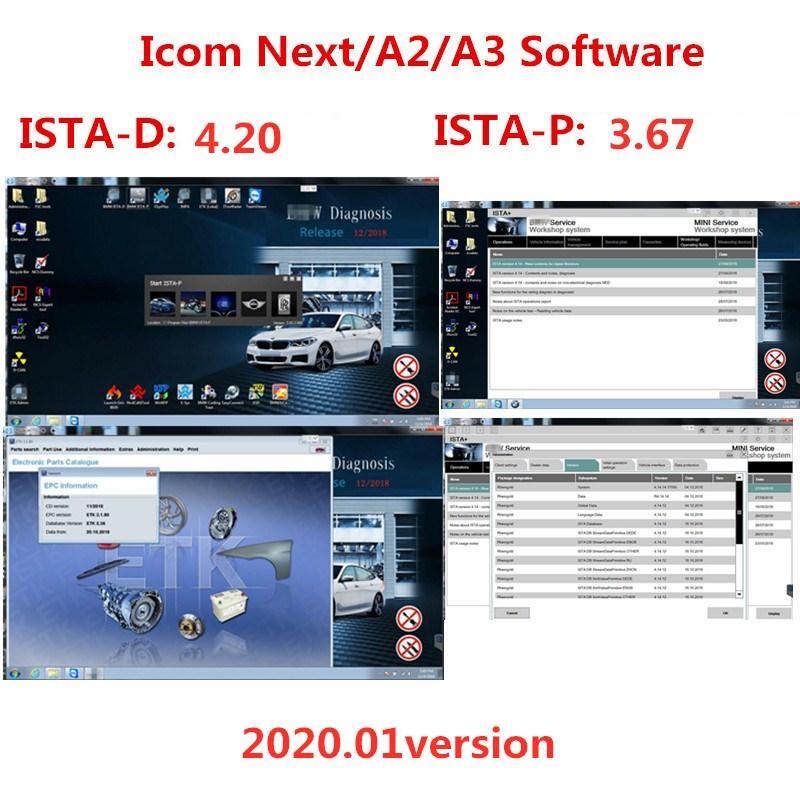2020,01 para BMW ICOM A2 / A3 / Próximo Software em 500GB HDD / SSD 512GB Software para BMW ICOM ISTA / D (4,20) ISTA / P (3,67)